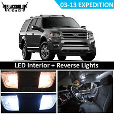 White LED Interior + Reverse Replacement Kit fits 2003-2013 Ford Expedition