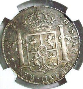 1825 PTS-J BOLIVIA FERDINAND VII SILVER 8 REALES NGC AU-50 VERY RARE L@@K