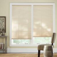 CUSTOM CUT Home Decorators Sahara 9/16 in. Cordless Light Filtering Cell Shade