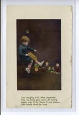 (Sd511-100) To A Friend, Toys, Child, 1910, Used G-VG