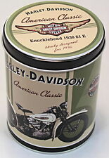 Licenced Harley Davidson Knucklehead 1936 61 E Metal Round Tin Box