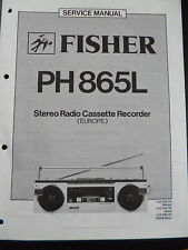 ORIGINAL SERVICE MANUAL Fisher Integrated Stereo Amplifier ca-865l