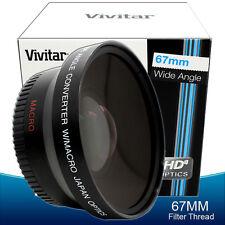 67mm 0.43x WIDE ANGLE MACRO LENS FOR Canon Sony Panasonic Digital Camcorder
