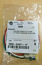 Allen Bradley 888N-D4AF1-1F Series B Receptacle NEW - in sealed bag