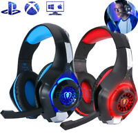 2020 Stereo Bass Surround Gaming Headset for PS4 Slim Pro New Xbox One XPC Mic