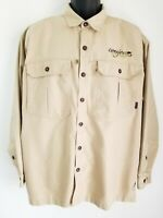 Patagonia Canvas Work Shirt Brown Outdoors Hiking Mens L Button Up