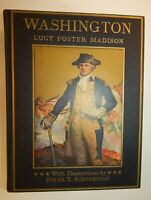 1925 Vtg George Washington Lucy Foster Madison Frank Schoonover Illustration Art