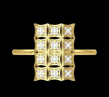 "IGI Certified Natural Diamonds ""12 Diamonds"" 14K Yellow Gold Women's Ring Size 6"