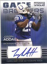 2009 Topps Unique Game Breakers Autograph JOSEPH ADDAI #GA-JA  #ed 077/100 AUTO