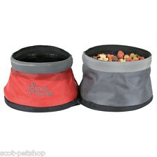 Dog Travel Bowl  - Foldable Double Dog Travel Feeding And Water Bowl 25135
