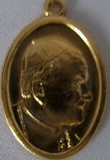 Papal Coin of Pope John Paul II Medal Token Gold tone Oval made in Italy