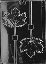 MAPLE LEAF LOLLY POP  mold Chocolate Candy cupcake soap shower party favor