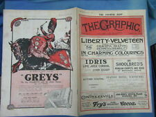 WWI WAR GUERRE 14/18 : revue THE GRAPHIC 1916 Nr 2445 (adv. GREYS TABAC DUNLOP°