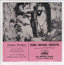 """VIENNA BOHEMIAN ORCHESTRA  F WALTER Vinyle 45T 7"""" VIENNA BLOOD STRAUSS  Voix S M"""