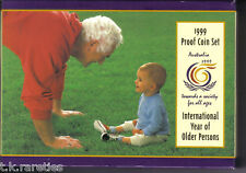 1999 PROOF MINT COIN SET - Int Year of Older Persons.