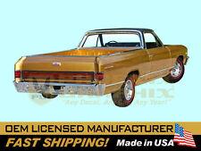 1967 Chevelle El Camino Brazilian Walnut Woodgrain Tailgate Decal Stripe Appliqu