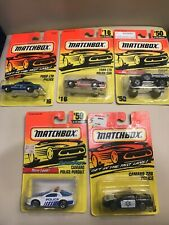 Matchbox 1993-1997 Police Cars Lot MOC On Card New Rare
