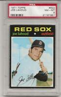 SET BREAK -1971 TOPPS # 622 JOE LAHOUD, PSA 8 NM-MT, BOSTON RED SOX, L@@K !