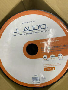 JL Audio XM-WhtMFC-250 White 6 conductor Cable Wire speaker + LED: Spool 250 ft