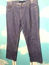Calvin Klein Women's Jeans Size 14 Lean Straight Leg Blue Medium Wash Relaxed