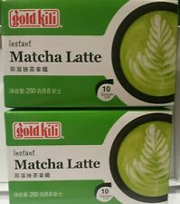 Lot of 2 Gold Kili Instant Matcha Latte 10 sachets each pack
