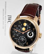 IWC Portuguese Perpetual Calendar 18k Rose Gold Watch Box/Papers 5021