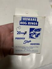 Vintage Humane Hog Rings Box Of 20 E8