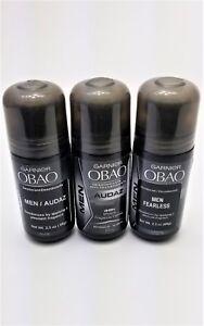3 Garnier Obao Roll On Deodorant for Men Audaz 48 hours / Desodorante Hombre