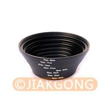 49-52-55-58-62-67-72-77-82 mm Step Up Rings SET 8pcs