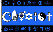 3x5 Ft Coexist Flag Banner Faith Religious Freedom Peace Pride Acceptance bf