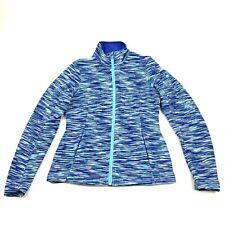 NEW Spyder Fleece Jacket Women Size Large Purple Full Zip Long Sleeve Bonded Knt