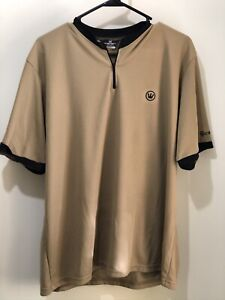 Mens (unisex) Canari Black & Tan Short Sleeve 1/4 Zip Cycling Shirt XL