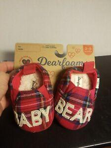 Dearfoams Size 3-6 Months BABY BEAR SLIPPERS