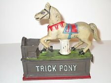 Trick Pony Cast Iron Coin Penny Mechanical Bank