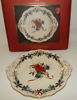NIB Lenox Winter Greetings Christmas Cardinal Pierced Dessert Server Platter