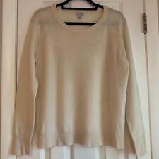 Halogen 100% Cashmere Sweater Cream Size XL EUC