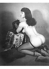 Betty Page nylons woman print Bettie leggy butt female girl nude model photo W