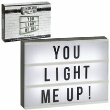 Cinema Light up Letterbox Sign A4 Lightbox Message Board Wedding Party Clearance