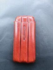 More details for vintage daviletto moulded leather three cigar case stamped (l6/bb4/4)