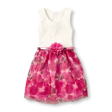 The Children's Place Girls Sleeveless Lace To Rose Print Dress Sz 5/6