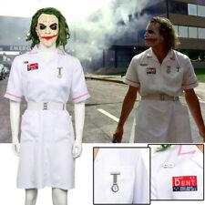 Batman Joker Enfermera Blanco uniforme el Caballero De La Noche Disfraz Cosplay Halloween Payaso