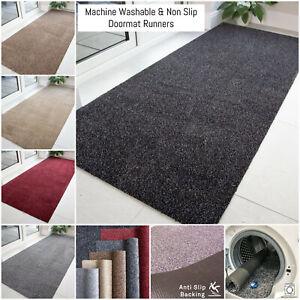 Modern Runner Mats Dirt Catcher Doormats Flecked Non Slip Machine Washable Mats