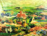 RURAL LANDSCAPE. OIL ON CANVAS. SIGNED SERRA (MELGOSA). SPAIN. CIRCA 1930
