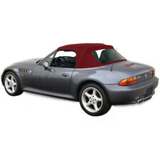 BMW Z3 Convertible Top in Burgundy Stayfast Cloth with Plastic Window