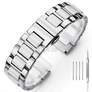 20MM/22MM Ceramics Stainless Steel Metal Bracelet Replacement Watch Band Strap
