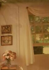 """New Martha Stewart Sheer Window Scarf, 60"""" Wide & 144"""" Long Beige"""