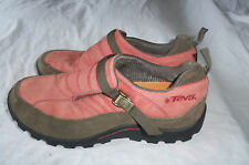 TEVA 6563 TSUSA FADED RED BROWN LEATHER BUCKLE STRAP HIKING SHOES SIZE 8.5
