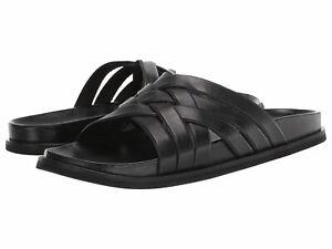 Men's Cole Haan Feathercraft Leather Slide Sandal (BLACK) 10 M
