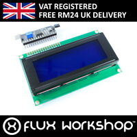 20x4 Blue LCD with I2C Interface Module 2004A HD44780 Display Flux Workshop