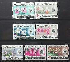 (SET II) MALAYSIA SABAH 1965 ORCHIDS FLOWERS FULL SET SG 166 - 172 MNH OG